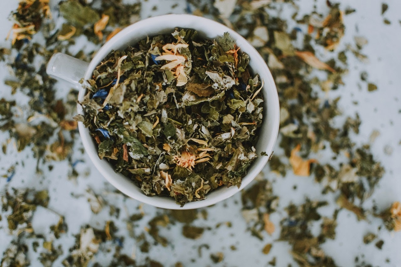 natural herbs in a cup