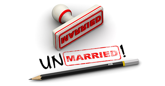 stamp and pencil - unmarried