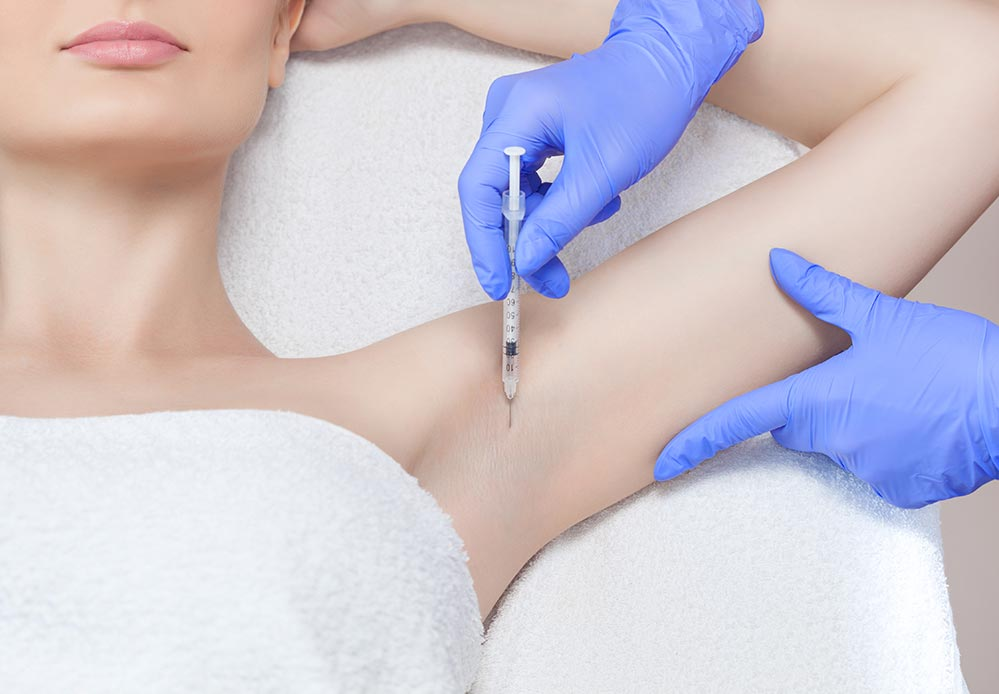 armpit excessive sweating - hyperhydrosis - botox