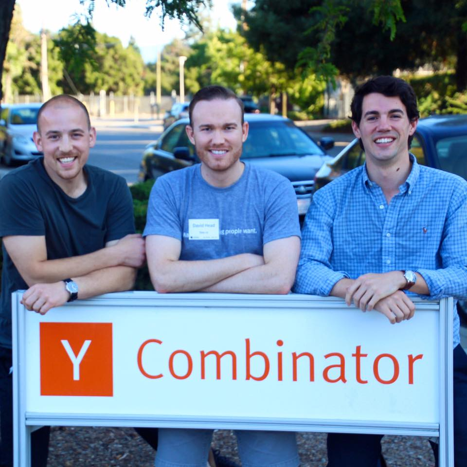 Alex Tapper, David Head, and Andrew King, Co-founders of Sixty at Y Combinator in summer 2017.