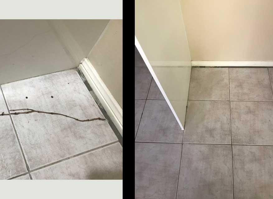 Cracked Floor Tile Repair