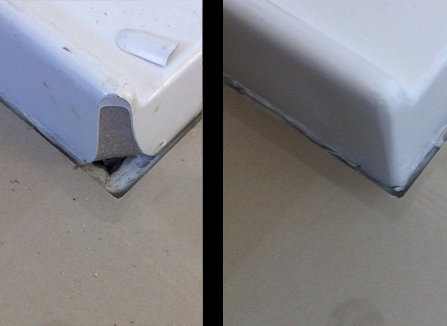 Shower Base Corner Repair