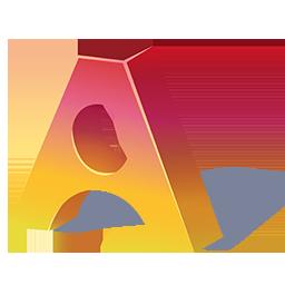 Stylized 3D A Appligogiques logo.