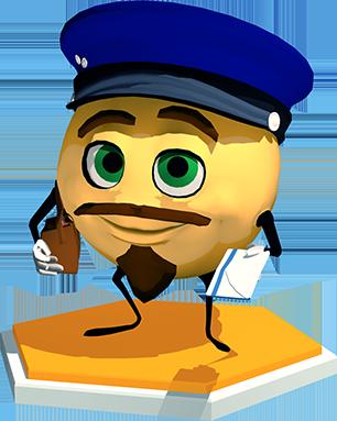 Le facteur MO vous tend une lettre.