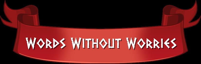 Words Without Worries horizontal logotype.