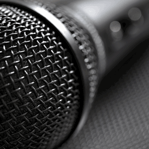 closeup of a microphone to rent