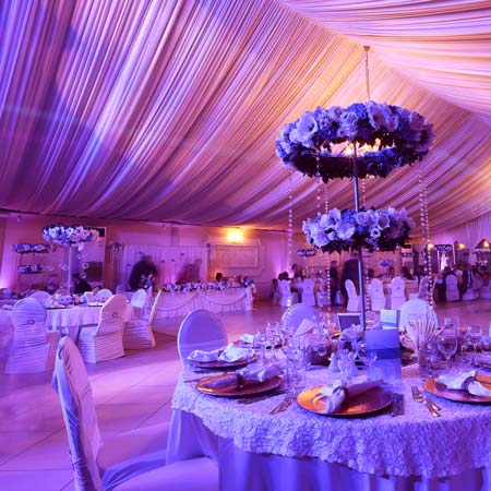 Wedding Lighting Hire | Beautiful Tables And Flowers
