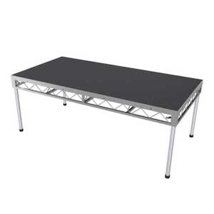 profile view of a 2.4 x 1.2m staging hire item