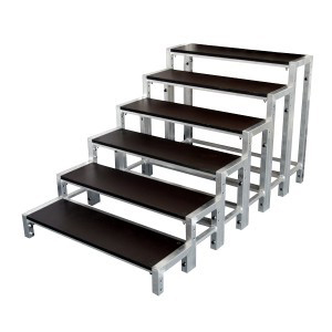 3d view of 900mm stage steps for rent