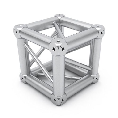 3D view of a box cube truss section for rent