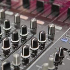 view of a dj mixer for rent