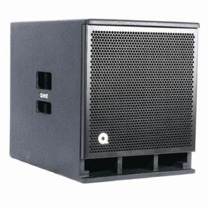 profile view of a Quest 12 inch powered speaker