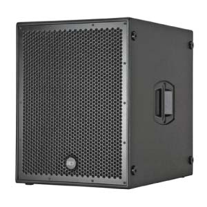 view of a RCF 18inch subwoofer for hire