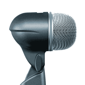 profile view of a shure bets 52 microphone for rent