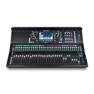 mixing desk hire. front view of a A&H SQ7