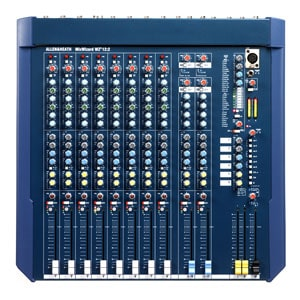 top down view of a mixing console for hire - the A&H WZ3