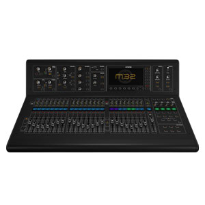 front profile view of the Midas m32 mixing desk for hire