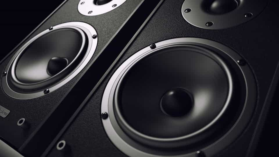 view of a set of pa speakers for hire
