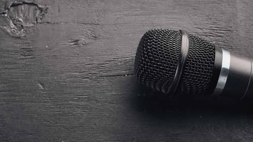 top down view of a microphone for rent