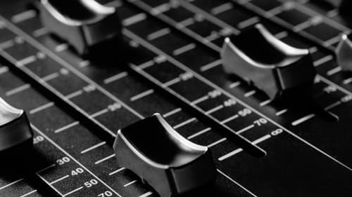 top down view of a mixing desk for hire