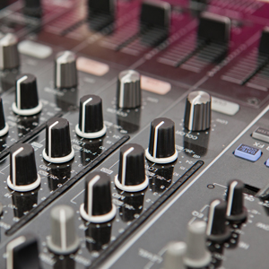 closeup of a dj mixer for hire