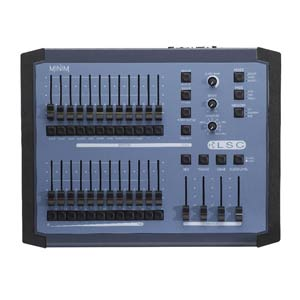 top down view of LSC minim lighting console