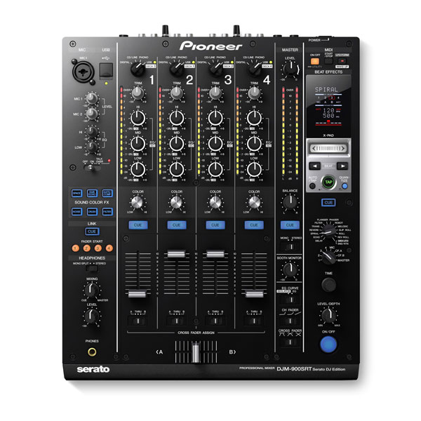 view of a pioneer djm 900srt dj mixer hire option