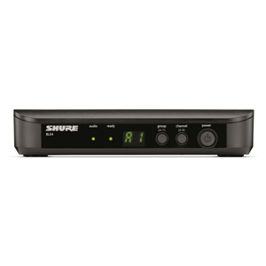 front panel view of a shure wireless receiver for hire