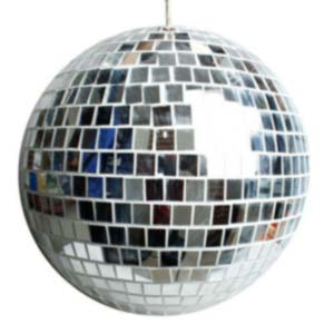 close up of a mirrorball we have for hire