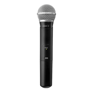 Profile view of a Shure PGA58 Wireless Microphone for hire
