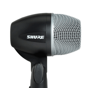 profile view of a shure PG53 kick drum mic for hire