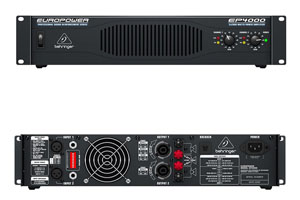 profile view of a Behringer EP4000 Amp