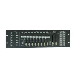 top down view of a dmx lighting console