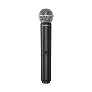Profile view of a Shure SM58 Wireless Mic for hire