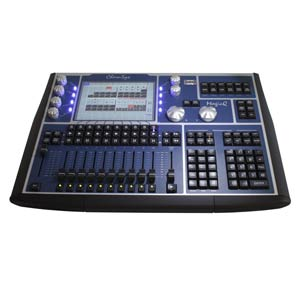 lighting control console for stage productions