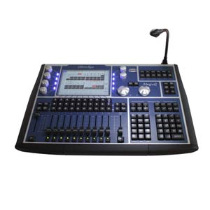 profile view of a chamsys mq60 stage lighting console