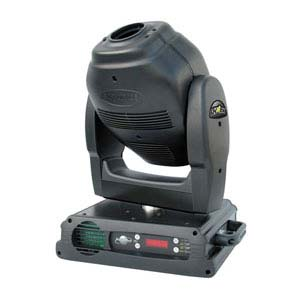 profile view of a type of moving head light for hire