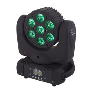 side profile of a LED moving head wash stage light