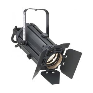 side view of a fresnel stage spot light