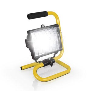 profile view of a halogen floodlight for rent