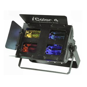 side view of a 4 colour wash halogen stage light for hire