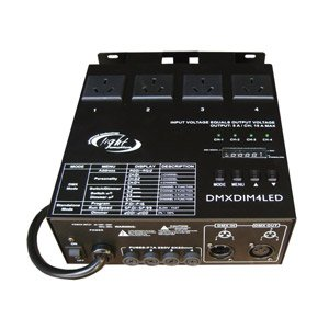 a DMX stage lighting program controller box