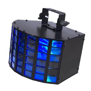 front view of a portable LED stage lighting unit