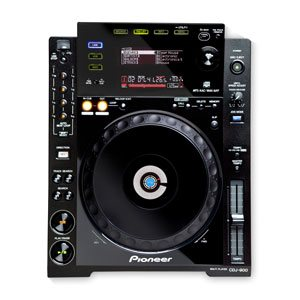 top down view of dj gear for hire | pioneer cdj 900