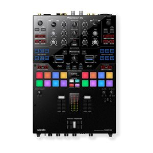 a top down view of a pioneer djm-29 dj mixer for hire