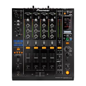 top view of a pioneer djm 900 nxs one dj mixer for rent