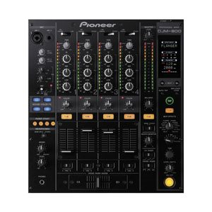 overhead view of a djm800 dj mixer for hire