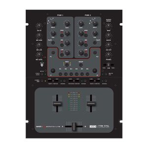 top profile view of a rane ttm57sl dj mixer