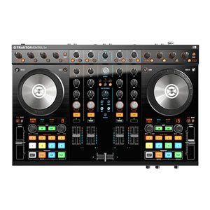 top view of dj controller hire | traktor-s4
