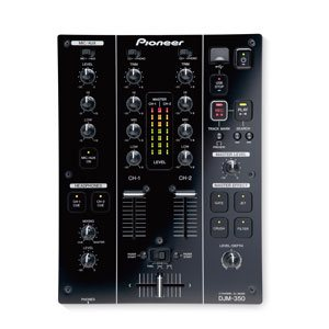 top down view of a djm 350 pioneer dj equipment for hire